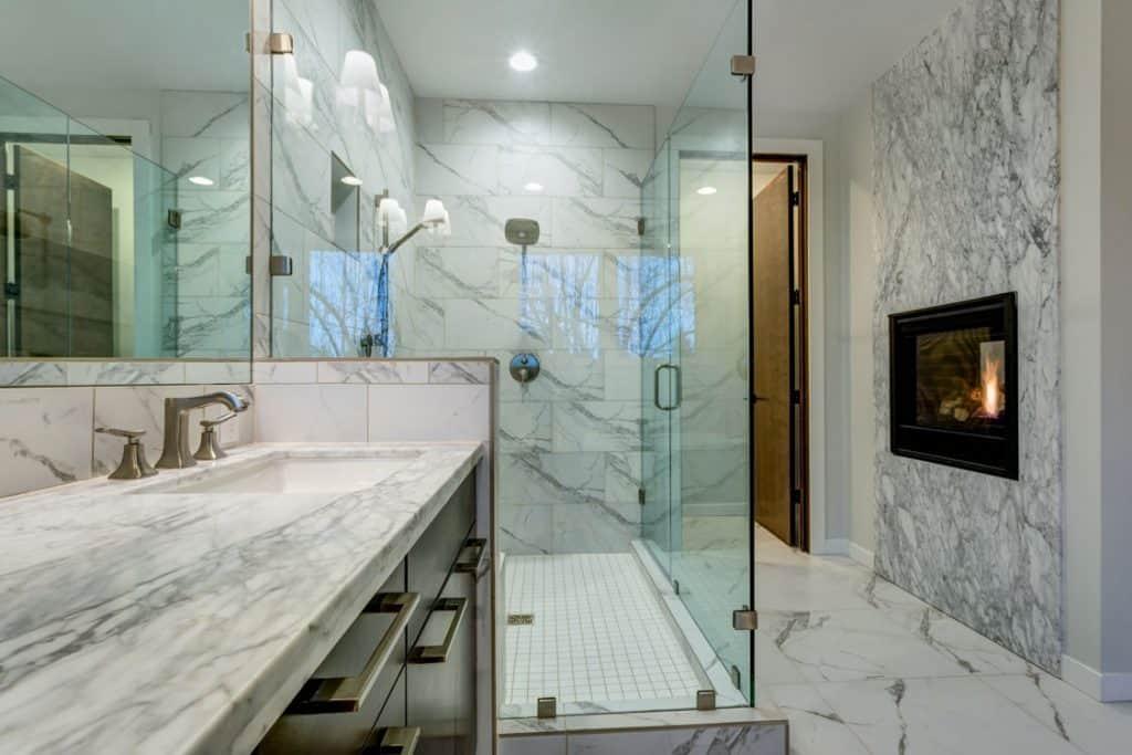 Bathroom Fireplace Ideas