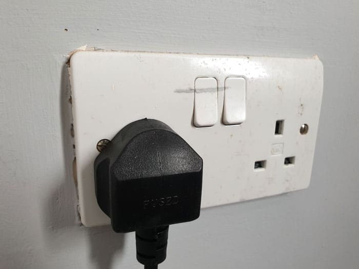 Electric Fireplace Wall Socket Off