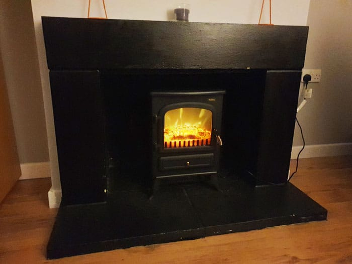 Electric Fireplace Setup
