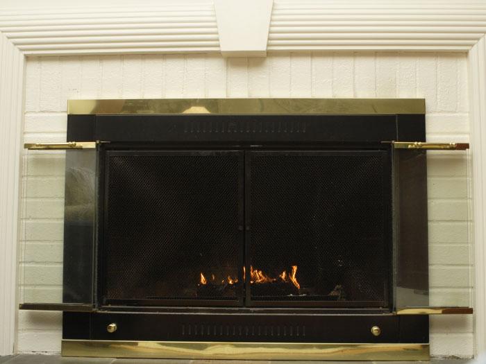 Bi-Fold Fireplace Doors