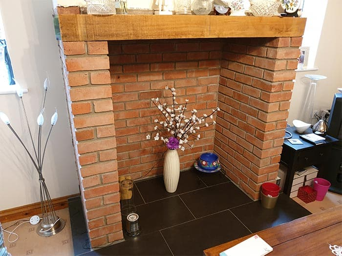 Brick Fireplace Surround