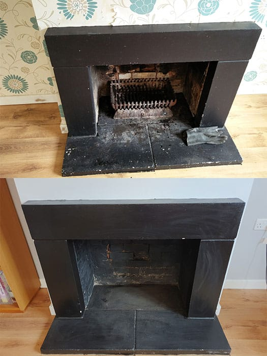 Fireplace Surround Black
