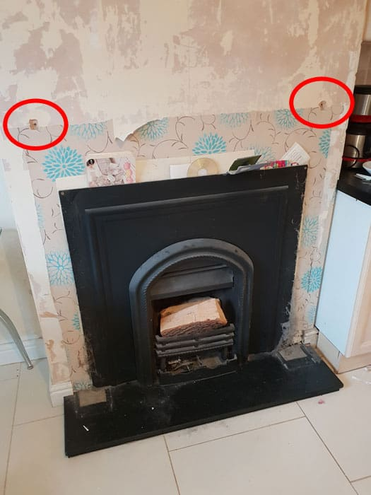 Fireplace Surround Bracket Locations