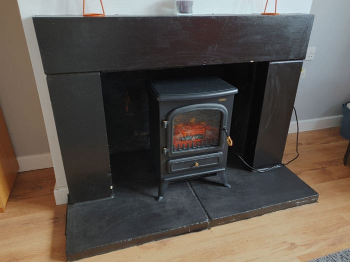 Electric Fireplace In Existing Fireplace