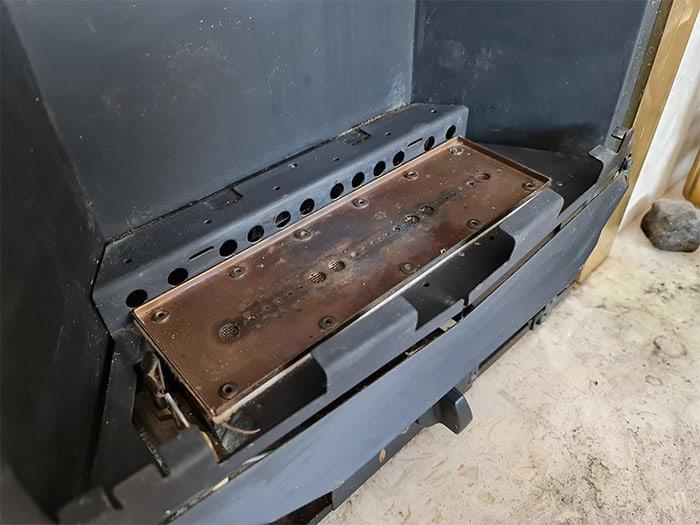 Gas Fireplace Burner Tray