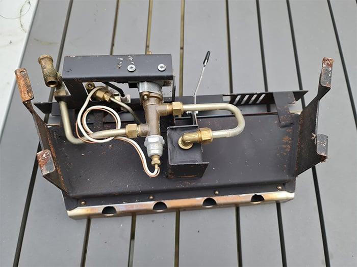 Gas Fireplace Burner Assembly
