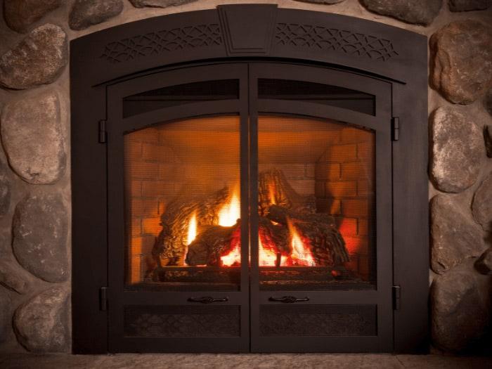 Gas Fireplace Logs
