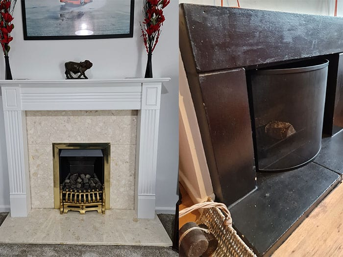 Gas Fireplace & Wood Burning Fireplace