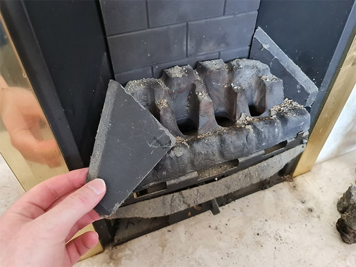 Gas Fireplace Side Panel