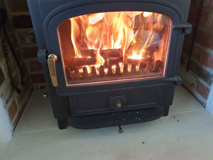 Multi Fuel Stove Fire