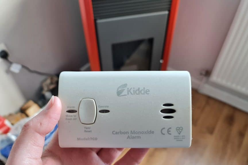 Pellet Stove Carbon Monoxide Alarm