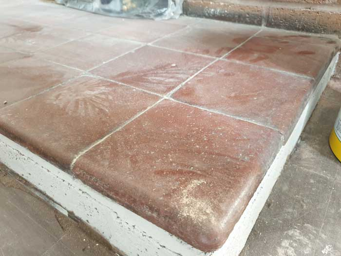 Quarry Tiles Fireplace Hearth
