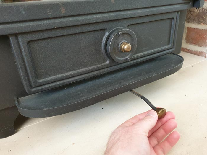 Wood Burning Stove Vent Handle