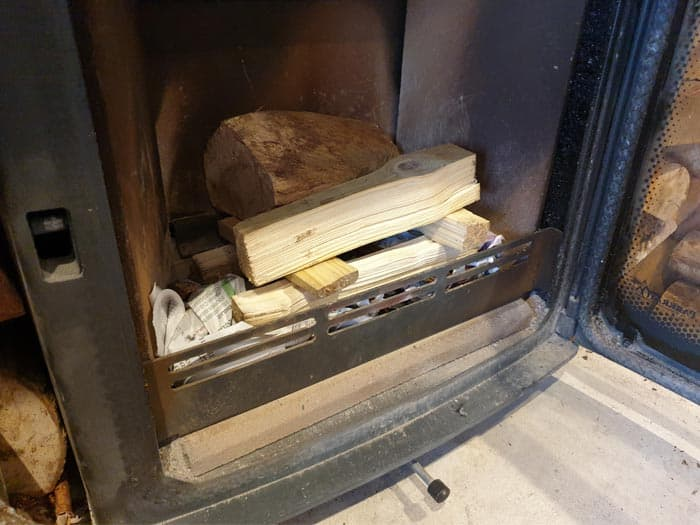 Wood Burning Stove Build Fire