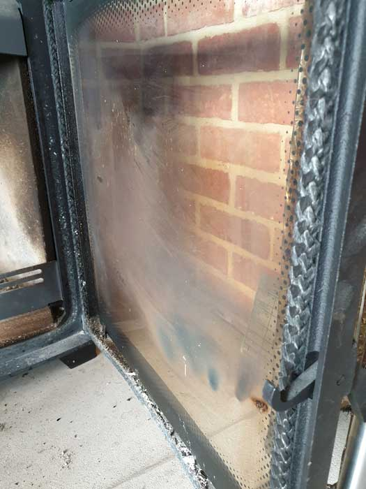 Wood Burning Stove Glass Blackening