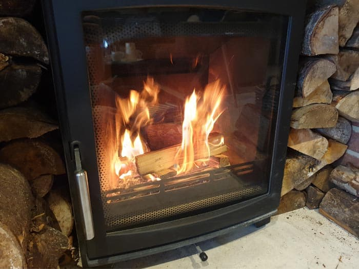 Wood Burning Stove Fire