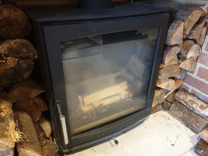 Wood Stove Smoking